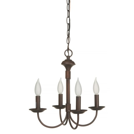 Image of 4-Light J-Arm Candle Chandelier - 14.5?