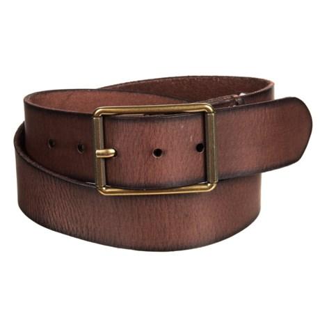 40mm Burnished Panel Belt - Leather (For Men)
