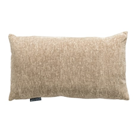"""425 South Los Angeles Cian Metallic Textured Throw Pillow - 14x24"""", Feathers in Taupe"""