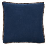 "425 South Los Angeles Jute-Trim Throw Pillow - 20x20"", Feathers"