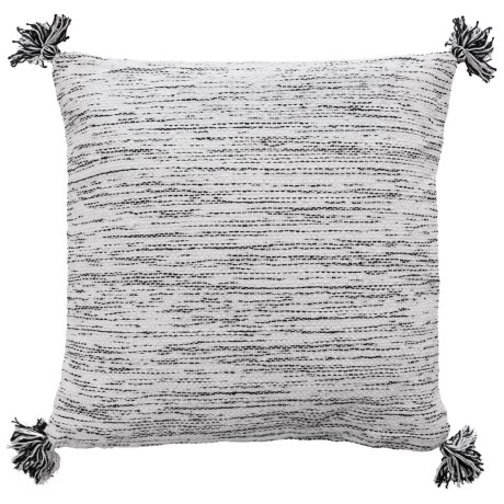 """425 South Los Angeles Textured Black and White Throw Pillow - 20x20"""", Feathers in Black/White"""