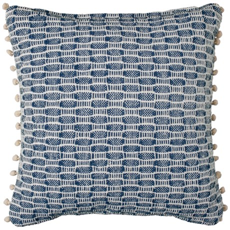 "425 South Los Angeles Textured Indigo Throw Pillow - 18x18"" in Blue"
