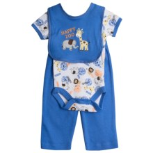 5-Piece Layette Set (For Infants) in Blue Happy Zoo - Closeouts