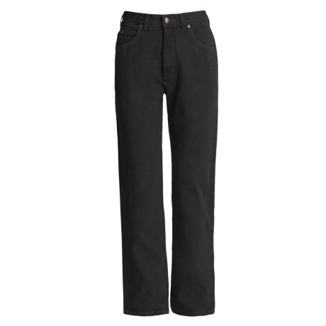 5-Pocket Cotton Twill Jeans (For Women) in Black