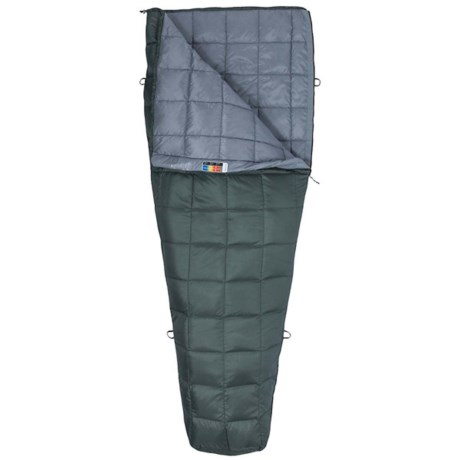 50°F Micron Down Sleeping Bag - 650 Fill Power, Rectangular, Long, Cosmetic Seconds