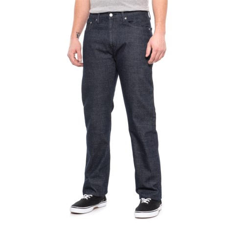 Image of 505 Medium Wash Regular Fit Jeans - Straight Leg (For Men)