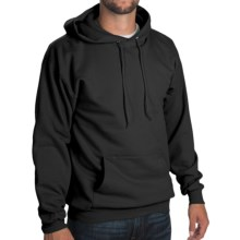 50/50 Hoodie Sweatshirt - Attached Hood (For Men and Women) in Black - 2nds
