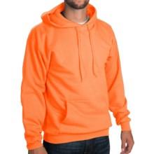 50/50 Hoodie Sweatshirt - Attached Hood (For Men and Women) in Fluorescent Orange Heather - 2nds