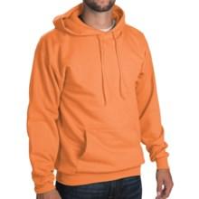50/50 Hoodie Sweatshirt - Attached Hood (For Men and Women) in Fluorescent Orange - 2nds