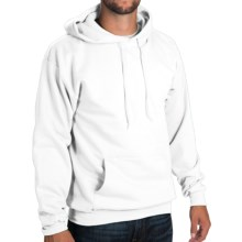 50/50 Hoodie Sweatshirt - Attached Hood (For Men and Women) in White - 2nds