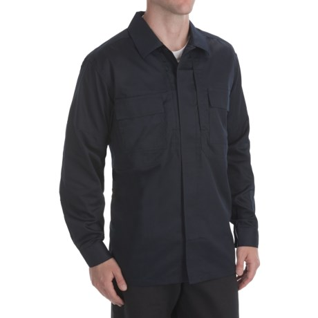 5.11 Tactical Twill TDU Shirt - Long Sleeve (For Men) in Dark Navy