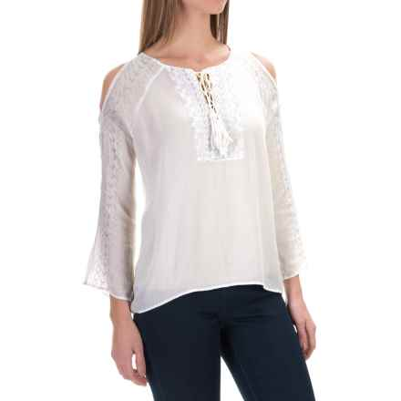 525 America Embroidered Blouse - Rayon, Long Sleeve (For Women) in White - Closeouts