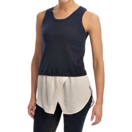 525 america Knit and Chiffon Tank Top (For Women)