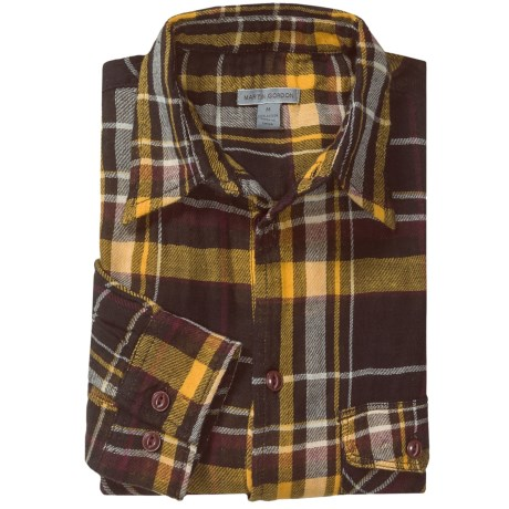 548 Double-Faced Flannel Shirt - Long Sleeve (For Men) in Gold