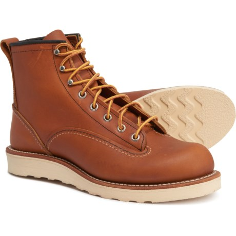 6? New Lineman Boots - Leather, Factory 2nds (For Men) - BROWN (6 )
