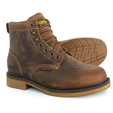 Image of 6? Smooth Sole Work Boots - Steel Safety Toe, Waterproof (For Men)