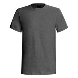 60/40 Blend Short Sleeve Beefy-t By Hanes (For Men and Women) in Charcoal Heather