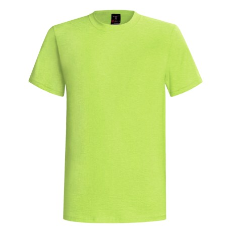 60/40 Blend Short Sleeve Beefy-t By Hanes (For Men and Women) in Fluorescent Yellow