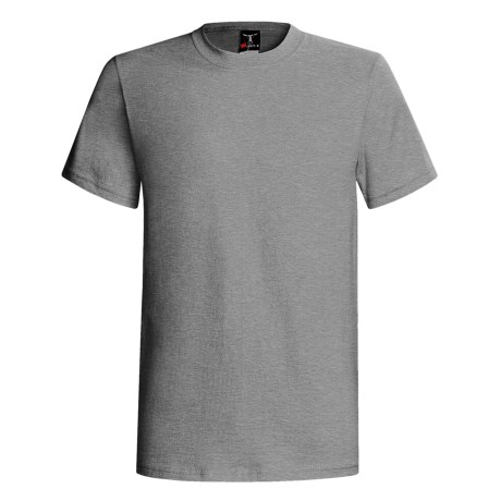 60/40 Blend Short Sleeve Beefy-t By Hanes (For Men and Women) in Oxford Grey