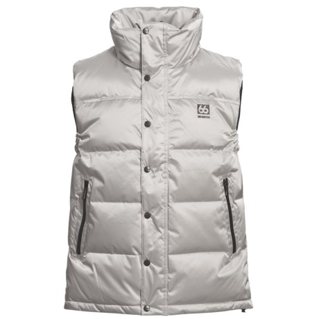66º North Laugavegur Down Vest - 500 Fill Power (For Men) in Silver