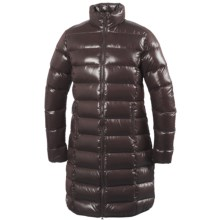 66° North Laugavegur Long Down Coat - 550 Fill Power (For Women) in Dark Brown - Closeouts