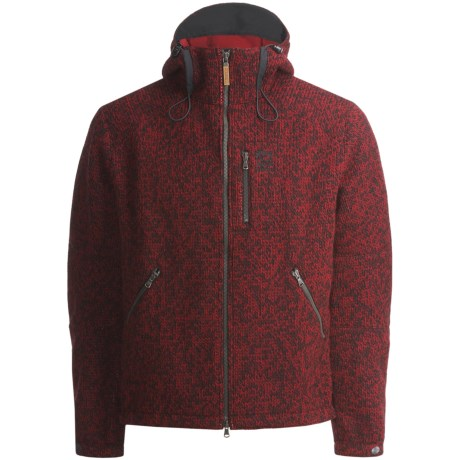 66° North Vindur Jacket with Hood (For Men) in Heathered Red
