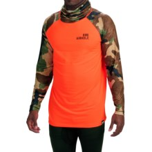 686 Airhole Thermal Airtube Base Layer Top - UPF 30, Long Sleeve (For Men) in Safety Orange Color Block - Closeouts
