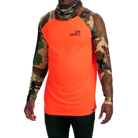 686 Airhole Thermal Airtube Base Layer Top UPF 30, Long Sleeve (For Men)