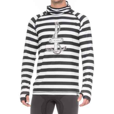 686 Airhole Thermal Balaclava Shirt - UPF 30+, Long Sleeve (For Men) in Jailbird Stripe - Closeouts