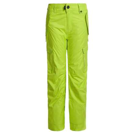 686 All Terrain Ski Pants - Waterproof, Insulated (For Boys) in Lime - Closeouts