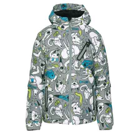 686 Altitude Ski Jacket - Waterproof, Insulated (For Boys) in Grey Skulls - Closeouts