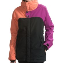 686 Authentic Smarty® Path Snowboard Jacket - Waterproof, 3-in-1 (For Women) in Light Orchid Color Block - Closeouts