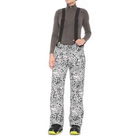 686 Avey Ski Bib Pants - Waterproof, Insulated (For Women) in Grey Animal - Closeouts