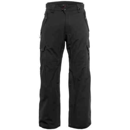 686 Defender Cargo Snowboard Pants - Insulated, Waterproof (For Men) in Black - Closeouts