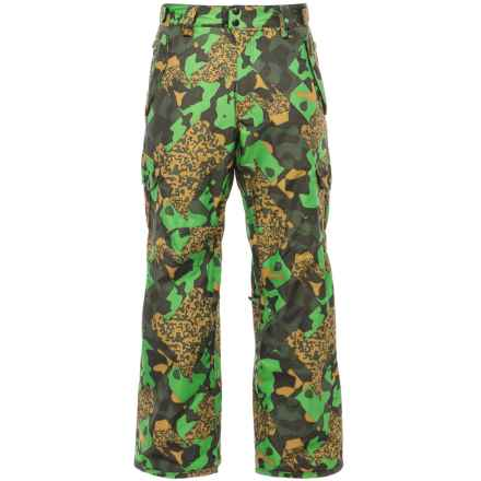 686 Defender Cargo Snowboard Pants - Insulated, Waterproof (For Men) in Green Cubist Camo - Closeouts