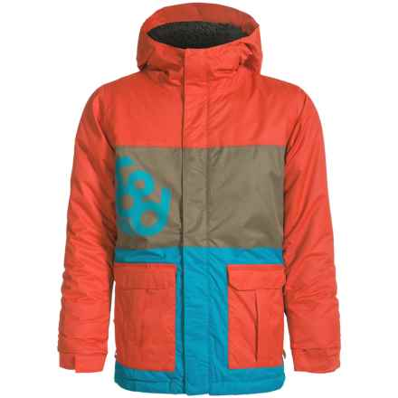 686 Elevate Ski Jacket - Waterproof, Insulated (For Boys) in Burnt Orange Colorblock - Closeouts