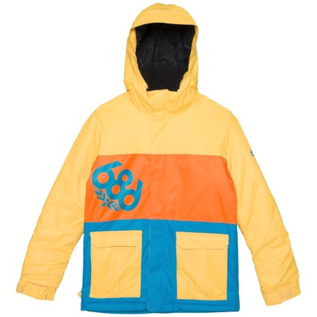 686 Elevate Ski Jacket - Waterproof, Insulated (For Boys) in Yellow Colorblock