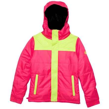 686 Ella Ski Jacket - Waterproof, Insulated (For Girls) in Fuschia Colorblock - Closeouts