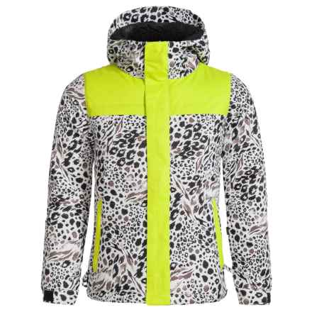 686 Ella Ski Jacket - Waterproof, Insulated (For Girls) in Grey Animal Colorblock - Closeouts