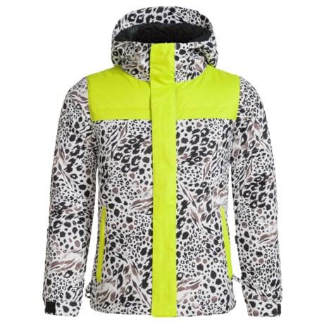 686 Ella Ski Jacket - Waterproof, Insulated (For Girls) in Grey Animal Colorblock