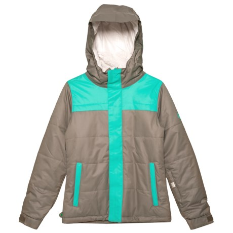 686 Ella Ski Jacket - Waterproof, Insulated (For Girls) in Tobacco Colorblock