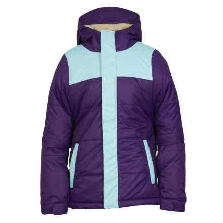 686 Ella Ski Jacket - Waterproof, Insulated (For Girls) in Violet Colorblock - Closeouts