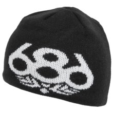 686 Icon Beanie Hat (For Kids) in Black - Closeouts