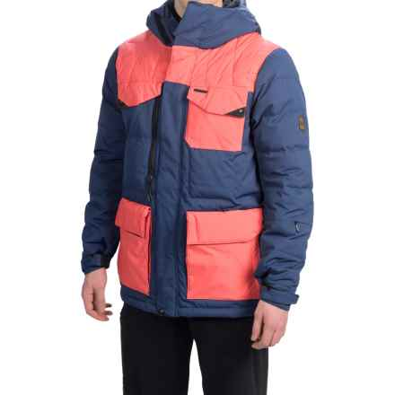 686 Parklan Preserve Snowboard Jacket - Waterproof, 600 Fill Power Down (For Men) in Indigo Herringbone Dobby - Closeouts