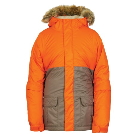 686 Polly Ski Jacket - Waterproof, Insulated (For Girls) in Coral Colorblock