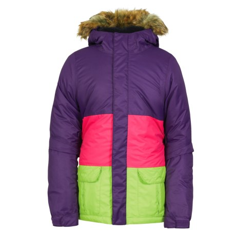 686 Polly Ski Jacket - Waterproof, Insulated (For Girls) in Violet Colorblock