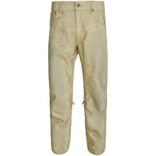 686 Reserve Destructed Denim Snowboard Pants - Insulated (For Men) in Khaki - Closeouts