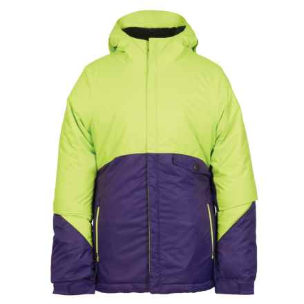 686 Wendy Ski Jacket - Waterproof, Insulated (For Girls) in Violet Colorblock - Closeouts