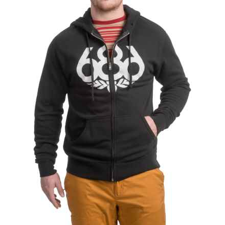 686 Wreath Full-Zip Hoodie (For Men) in Black - Closeouts