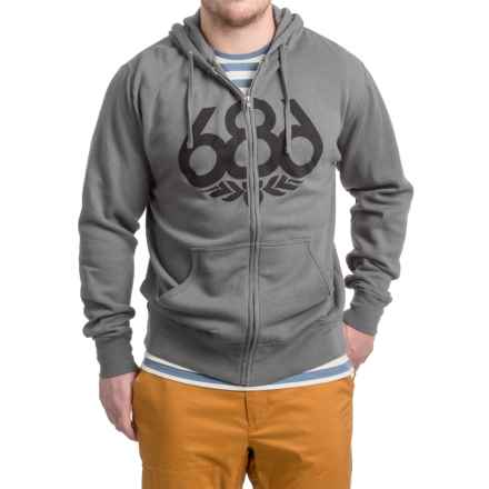686 Wreath Full-Zip Hoodie (For Men) in Charcoal - Closeouts